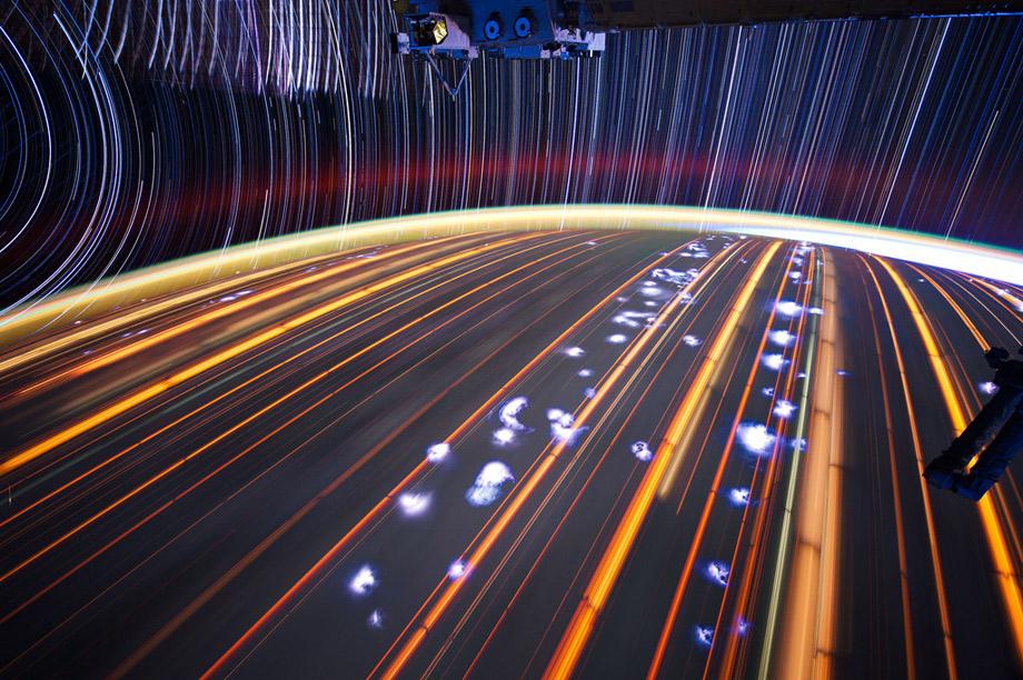 Foto vanuit het Internation Space Station